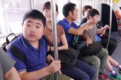 電車の中の様子