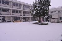 登校前の積雪の様子