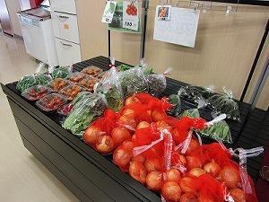収穫された野菜の袋詰め