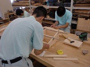 木工班の様子