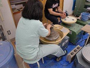 窯陶班の様子