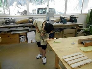 木工室での学習の様子