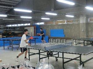 卓球部の練習の様子