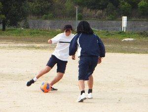 サッカーの練習の様子