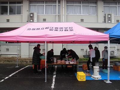 10周年記念式典  ポン菓子つくりの様子